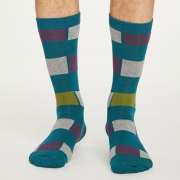 Thought Chaussettes Bambou - Sten Stripe Pillarbox Red