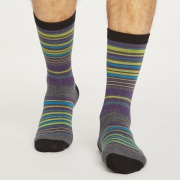 Thought Chaussettes Bambou - Lauritz Stripe Grey Marle