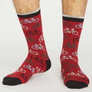 Thought Chaussettes Bambou - Cycler Pillarbox Red