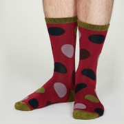 Thought Chaussettes Bambou - Newton Cranberry Red