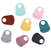 We Might Be Tiny Catchie Bib Slabbetje (2) Set van 2 afwasbare slabbetjes van voedselveilige silicone