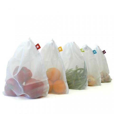 5 Herbruikbare Groentezakjes Herbruikbare Tasjes Voor Groenten En