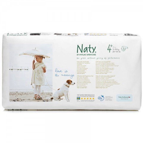 Couches 4 Maxi 44 Pièces Naty Kudzu Eco Webshop