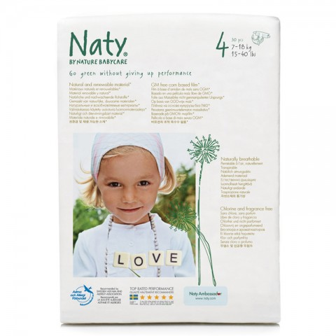 Couches 4 Maxi 27 Pièces Naty Kudzu Eco Webshop