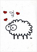 Sheep Poo Paper I Love Ewe Carte de v
