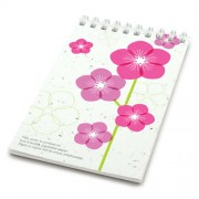 Botanical Paperworks Blocnote Pink Flowers