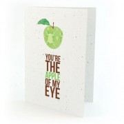 Botanical Paperworks Carte d'Amour à Planter - You're the Apple of My Eye