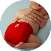 gDiapers gPant Good Fortune Red