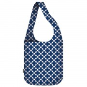 Ecozz Sac à Provisions Crossbody - Squares Blue