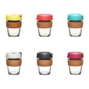 KeepCup KeepCup Brew Cork Medium - 340 ml Herbruikbare koffiebeker in glas
