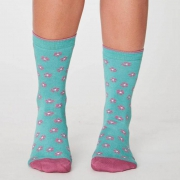 Thought Chaussettes Bambou - Ditsy Field Green