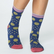 Thought Chaussettes Bambou - Easy Spot Ocean Blue
