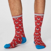Thought Chaussettes Bambou - Chevron Hibiscus Red