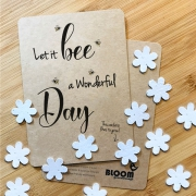 Bloom Your Message Bloeiwenskaart - Let it Be a Wonderful Day - Confetti Plantbare wenskaart met confetti