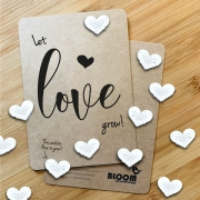 Bloom Your Message Bloeiwenskaart - Let Love Grow - Confetti Plantbare wenskaart met confetti