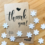 Bloom Your Message Bloeiwenskaart - Thank You - Confetti Plantbare wenskaart met confetti