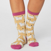 Thought Chaussettes Bambou - Cute Cat Mimosa Yellow