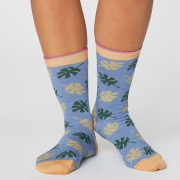 Thought Chaussettes Bambou - Botanical Sea Blue