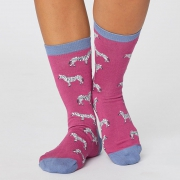 Thought Chaussettes Bambou - Safari Magenta Pink