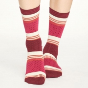 Thought Chaussettes Bambou - Dotty Stripe Magenta