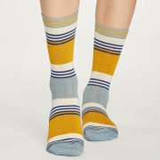 Thought Chaussettes Bambou - Dotty Stripe Mustard