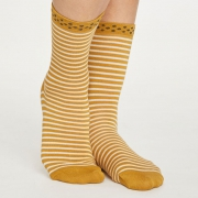 Thought Chaussettes Bambou - Hedda Stripe Gold