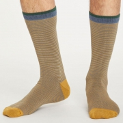 Thought Chaussettes Bambou - Sten Stripe Blue Slate