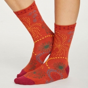 Thought Chaussettes Bambou - Firework Terracotta