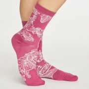Thought Chaussettes Bambou - Sketchy Floral Violet