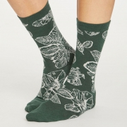 Thought Chaussettes Bambou - Sketchy Floral Forest Green