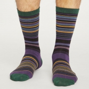 Thought Chaussettes Bambou - Lauritz Stripe Royal Purple