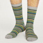 Thought Chaussettes Bambou - Kennet Stripe Grey Marle