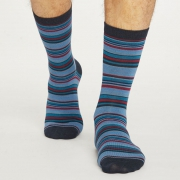 Thought Chaussettes Bambou - Kennet Stripe Midnight Navy