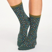 Thought Chaussettes Bambou - Dotty Forest Green