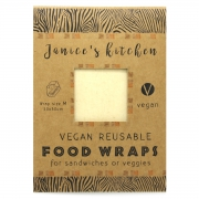 Janice's Kitchen Vegan Foodwrap -Medium Plantaardig alternatief voor huishoud- en aluminiumfolie
