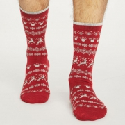 Thought Chaussettes Bambou - Reindeer Pillarbox Red