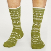 Thought Chaussettes Bambou - Reindeer Olive