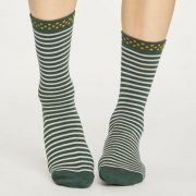 Thought Chaussettes Bambou - Hedda Stripe Forest Green