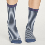 Thought Chaussettes Bambou - Hedda Stripe Blue Slate