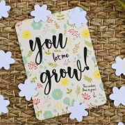 Bloom Your Message Bloeiwenskaart - You Let Me Grow - Confetti Plantbare wenskaart met confetti