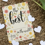 Bloom Your Message Bloeiwenskaart - The Best ... - Confetti Plantbare wenskaart met confetti