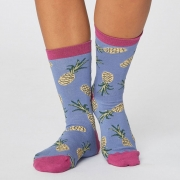 Thought Chaussettes Bambou - Pineapple Sea Blue